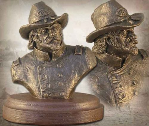Confederate Officer Bust BZ