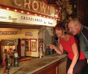 The Crown Theater features fresh popcorn, a 24-hour showing of Casablanca and a hologram gossiping about her love life.